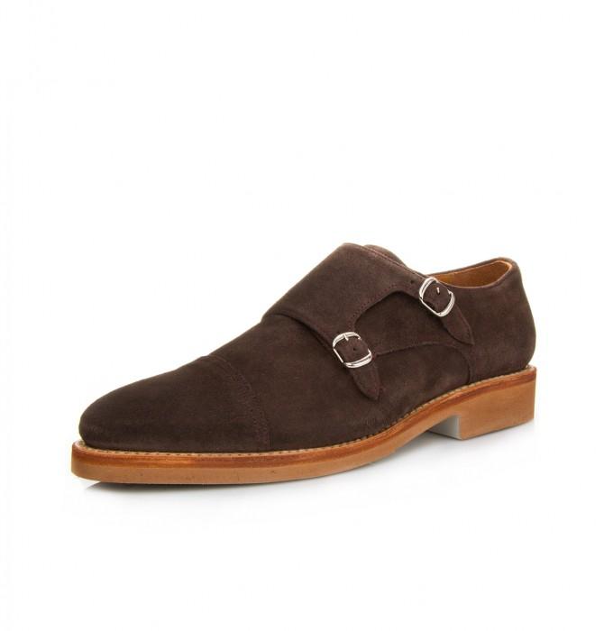 Zapato piel 2 hebillas