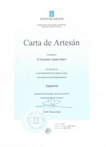 CARTA DE ARTESANO