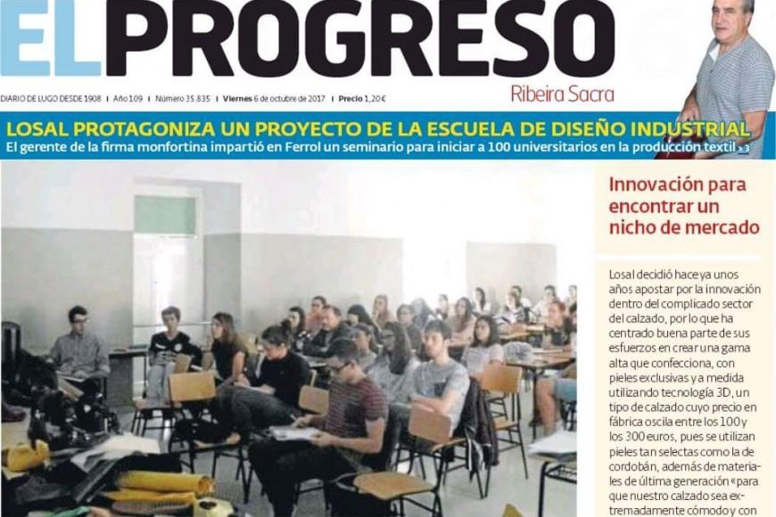 Los medios destacan la colaboración de Calzados Losal con la Escuela de Diseño de Ferrol.